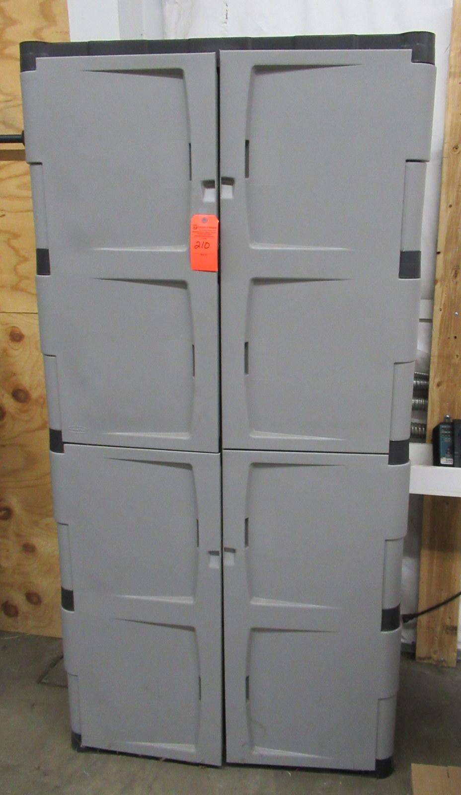 """Lot 210 - 4 Shelf Storage Cabinet 17"""" x 36"""" x 72"""""""