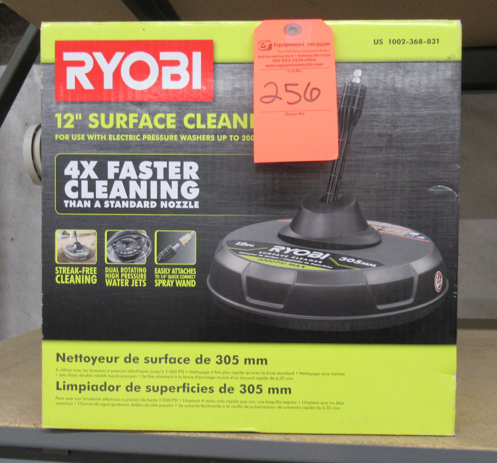 "Lot 256 - Ryobi 12"" Surface Cleaner"