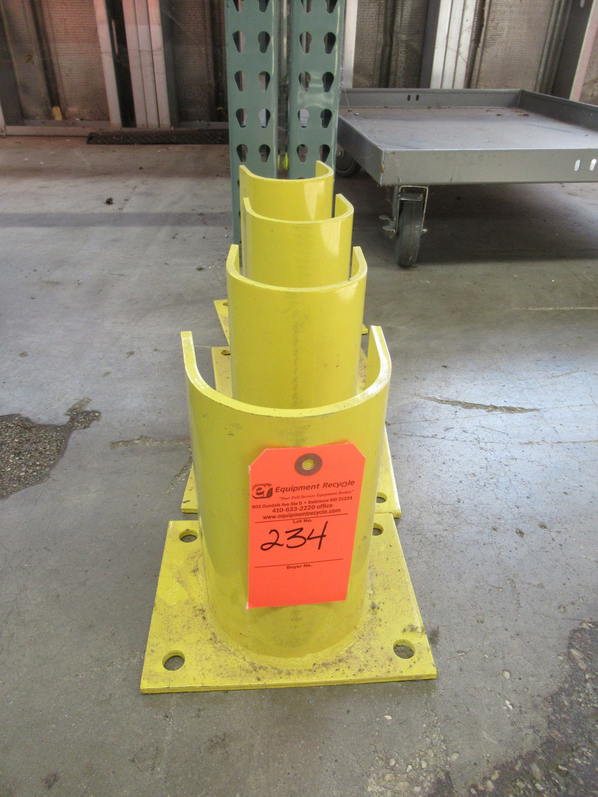 Lot 234 - Lot of 4 Uline Racking Protectors