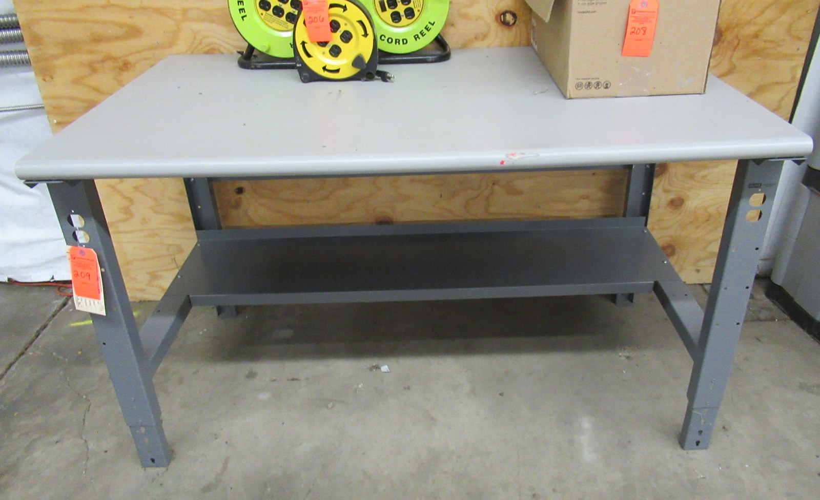 "Lot 209 - Uline H-1136-LAM Packing Shipping Table 60"" x 36"" x 36"" Laminate"