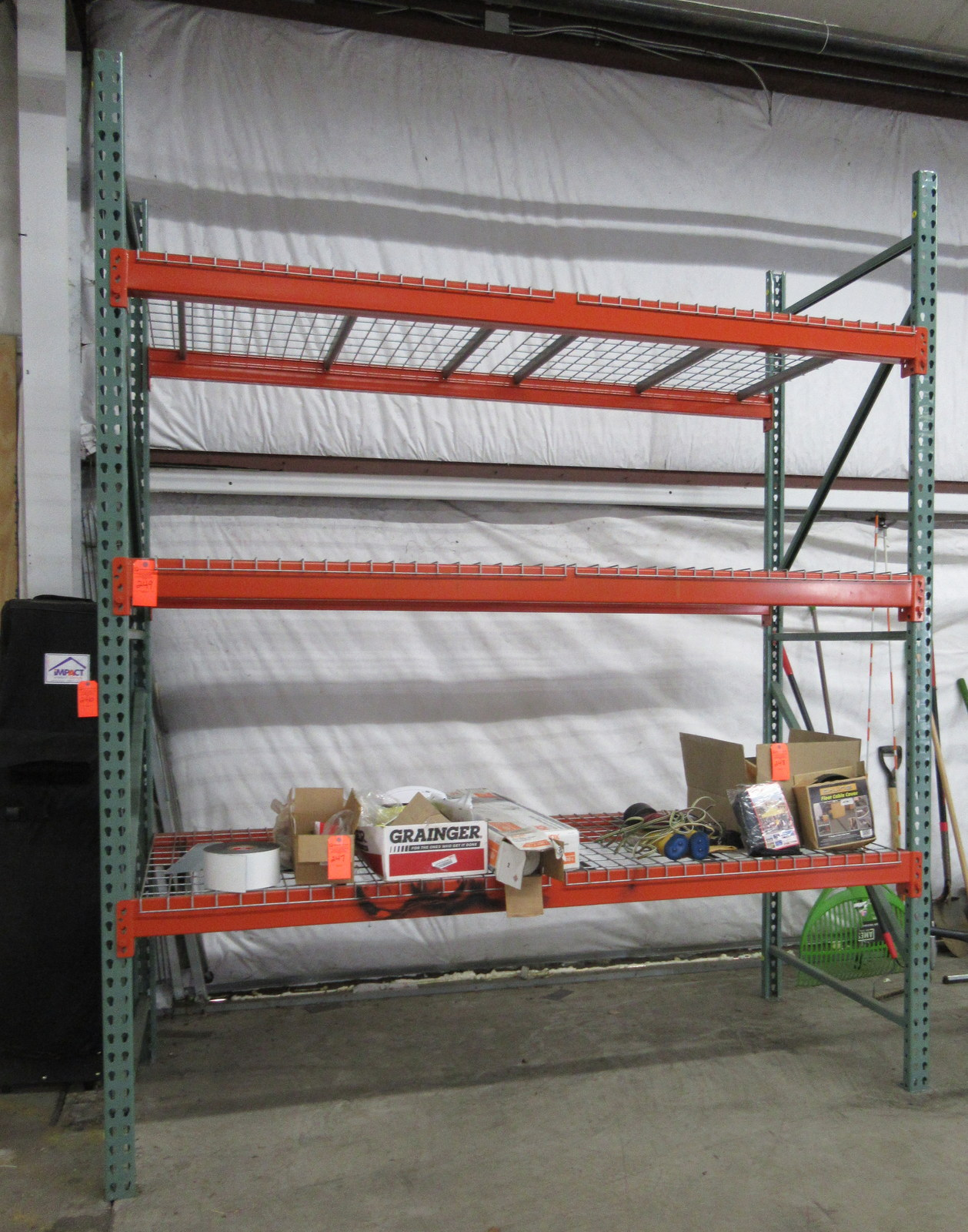 """Lot 249 - Uline Pallet Racking 42"""" 5 Sections"""