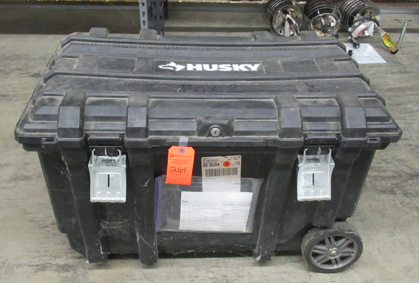 "Lot 261 - Husky Wheeled Storage Box 37"" x 23"" x 23"""