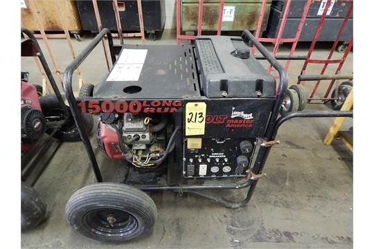 Volt Master America Model 15000 Long Run Gas Ed Generator Electric Start