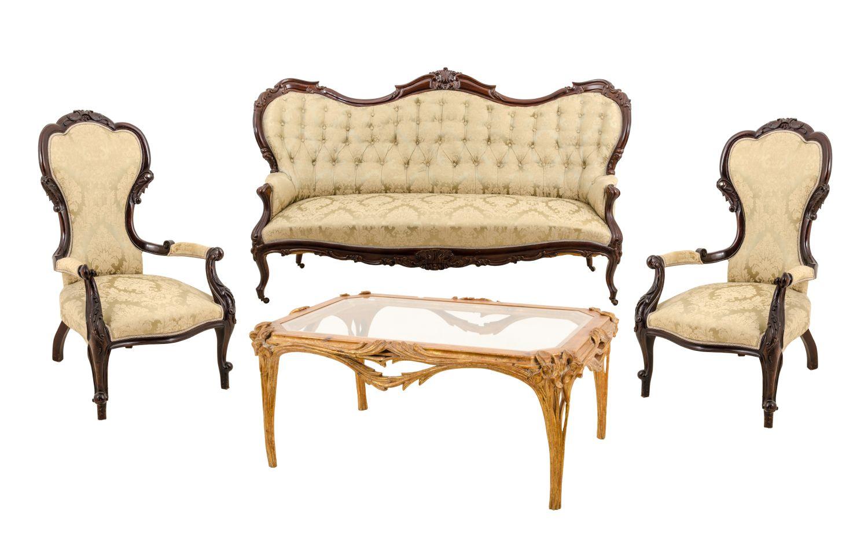Divano E Poltrone Luigi Filippo salotto stile luigi filippo in mogano composto da divano e