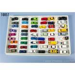 Konv. 54 H0 Modellfahrzeuge, dabei Pkw, Sportwagen usw., versch. Hersteller, Herpa, R. M., Wiking