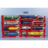 Konv. 12 Herpa H0 Modellfahrzeuge, Einsatzfahrzeuge, Lkw, Sattelschlepper usw., neuwertiger