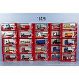 Konv. 25 Herpa H0 Modellfahrzeuge, dabei Lkw, Zugmaschinen, Einsatzfahrzeuge, Auflieger usw., sehr