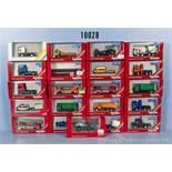 Konv. 21 Herpa H0 Modellfahrzeuge, dabei Lkw, Zugmaschinen, Einsatzfahrzeuge, Baumaschinen usw.,
