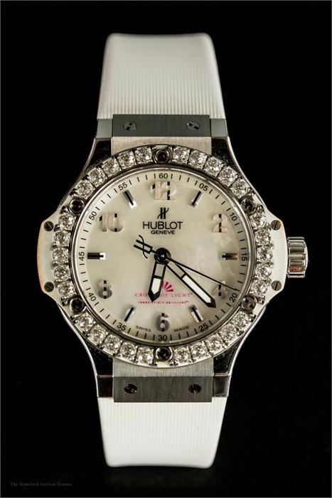 Lot 194   A Hublot Crown Of Light Ladies Limited Edition Diamond  Wristwatch, Serial Number