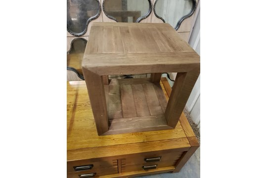 Lot 641 - Tables Salvage Reclamation Side Table
