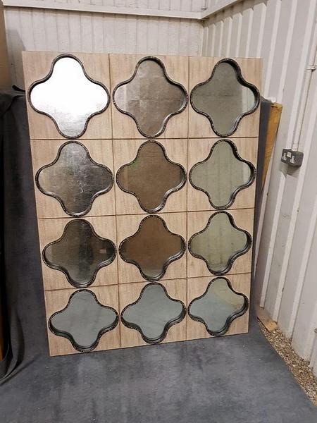 Lot 39 - Mirror - Boyd Gentain Mirror A Stunning Wall Tile Effect Framed Mirror 1250 x 33 x 1665 cm MSRP £