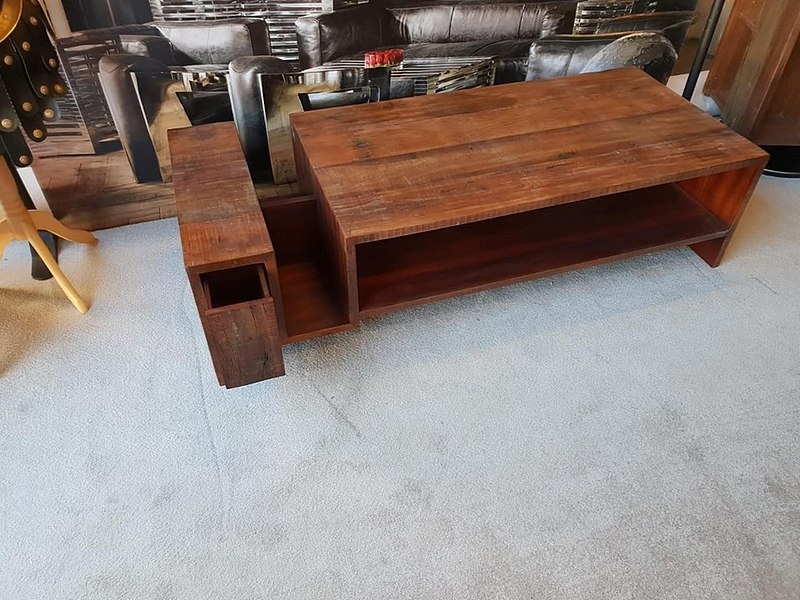 Lot 28 - Coffee Table - Avett CoffeeTable Hand-Crafted From Exotic Demolition Hardwoods,The Avett CoffeeTable