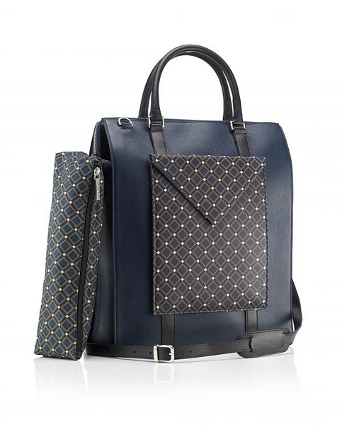 Lot 547 - Luggage - Mark Giusti Leather Tote 100% Nappa Calf Black Leather For Body And Details 100% Cotton