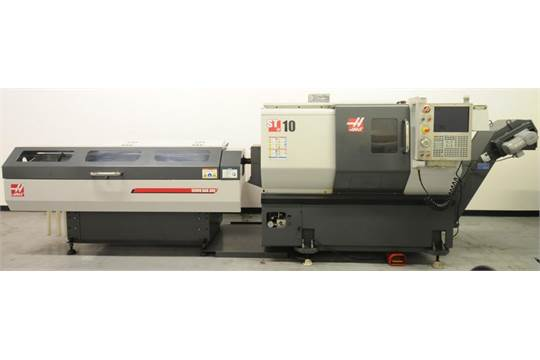 Choice of lots: 158 } HAAS (10/2012) ST10 CNC TURNING CENTER WITH ...
