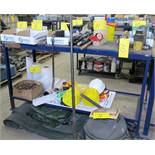 LOT ASST. PULLEYS, TAPE, HAMMERS, PUNCH SETS, ALLEN KEYS, WRENCHES, SCREWDRIVERS, HAND TOOLS, HARD