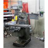 "TOP WELL 3VK VERTICAL MILLING MACHINE, S/N 781919, NEWALL 2-AXIS DRO, SERVO POWERFEED, 3HP, 10"" X"