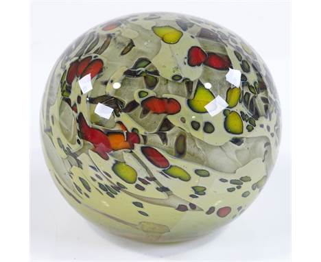 Steuben USA, rare hand made Art glass paperweight, circa 1980, signed to the base, height 7cm