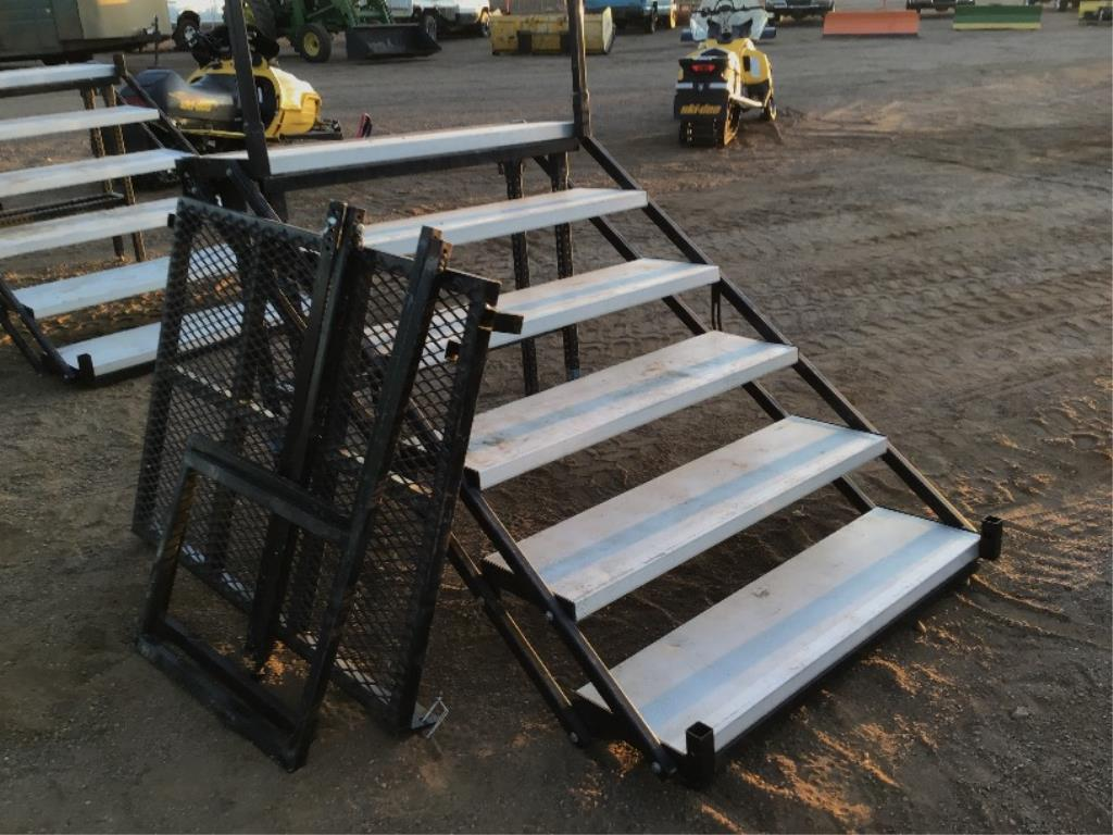 Lot 102 - Foldable Staircase w/Deck (Lot 102, & 103 Selling On Choice)