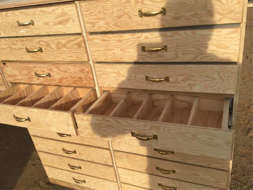 Lot 112a - Custom Built 18 Drawer Bolt Bin