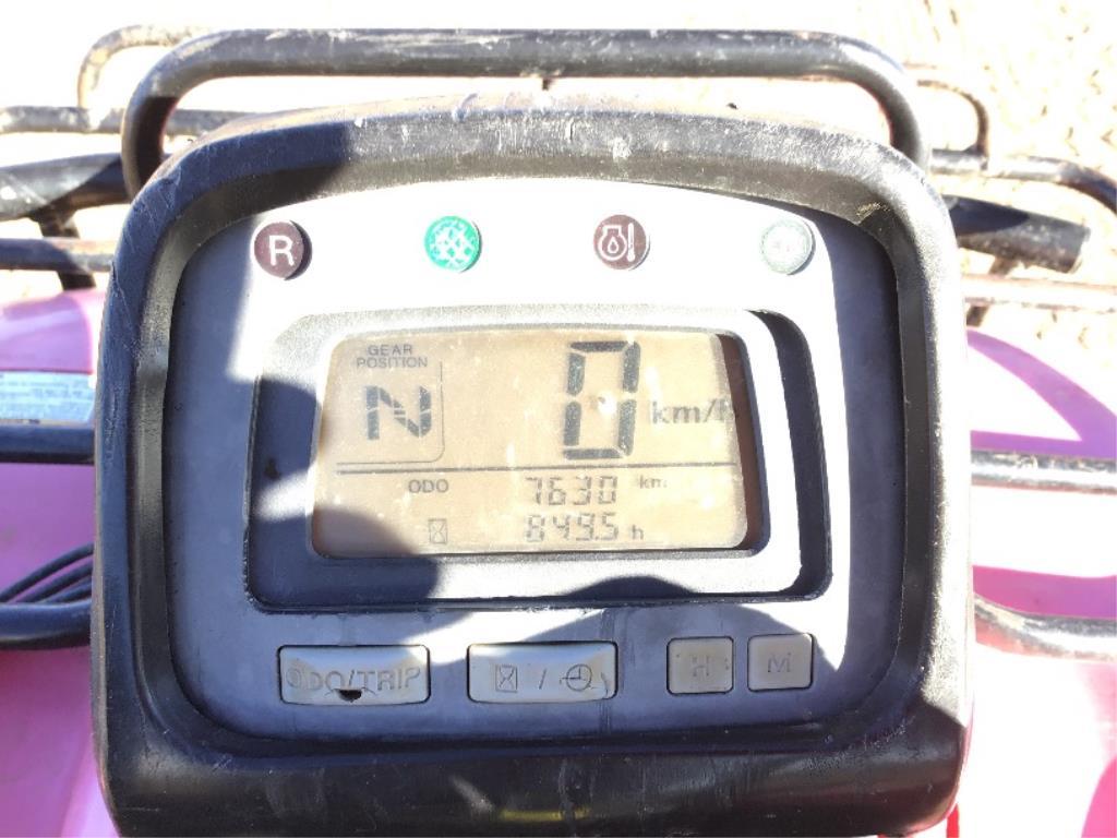 Lot 91 - 2002 Honda 450 Foreman ES Quad Winch, 7630km (VIN Not Available)