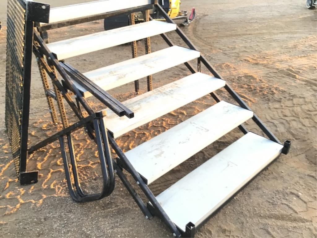 Lot 103 - Foldable Staircase w/Deck