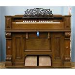 *FRENCH REED ORGAN, FULLY RESTORED, EARLY 1900S. HEIGHT 995MM (39.5IN) X WIDTH 1280MM (50.25IN) X