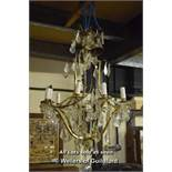 *PAIR OF LARGE CUT GLASS CHANDELIERS, CIRCA 1930. HEIGHT 1160MM (45.5IN) X DIAMETER 600MM (23.5IN)