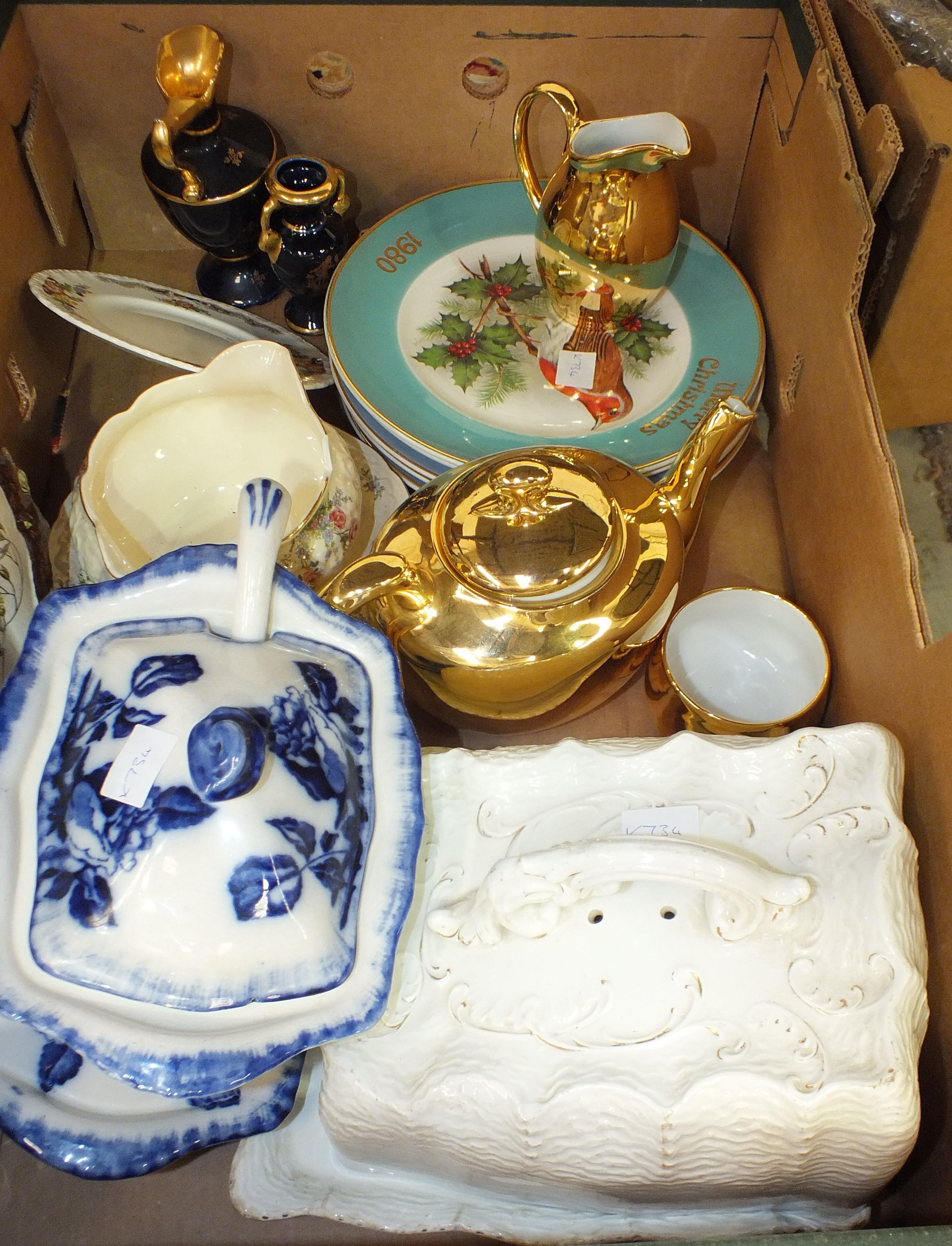Lot 102 - A Doulton Lambeth stoneware Queen Victoria commemorative jug, a collection of Royal Albert Old
