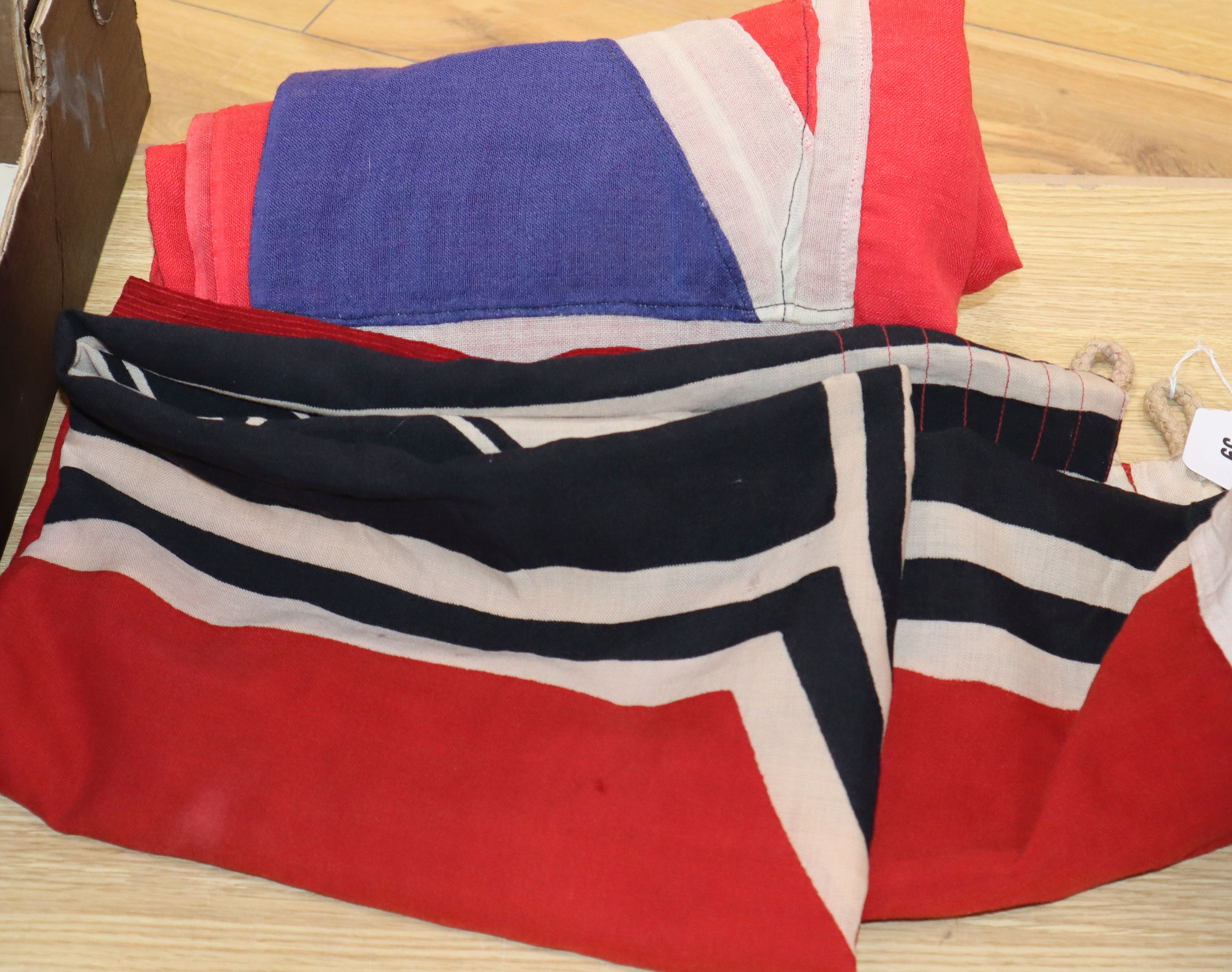 Lot 39 - A WWII German battleship flag and a WWII Atlantic convoy merchant navy flag