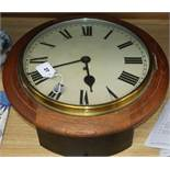 A fusee wall clock diameter 46cm