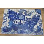 A set of six Arts and Crafts tiles