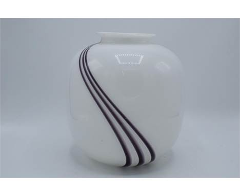 Large Goebel art glass vase, 23cm tall. In good condition with some scratching and surface wear etc. No postage is available