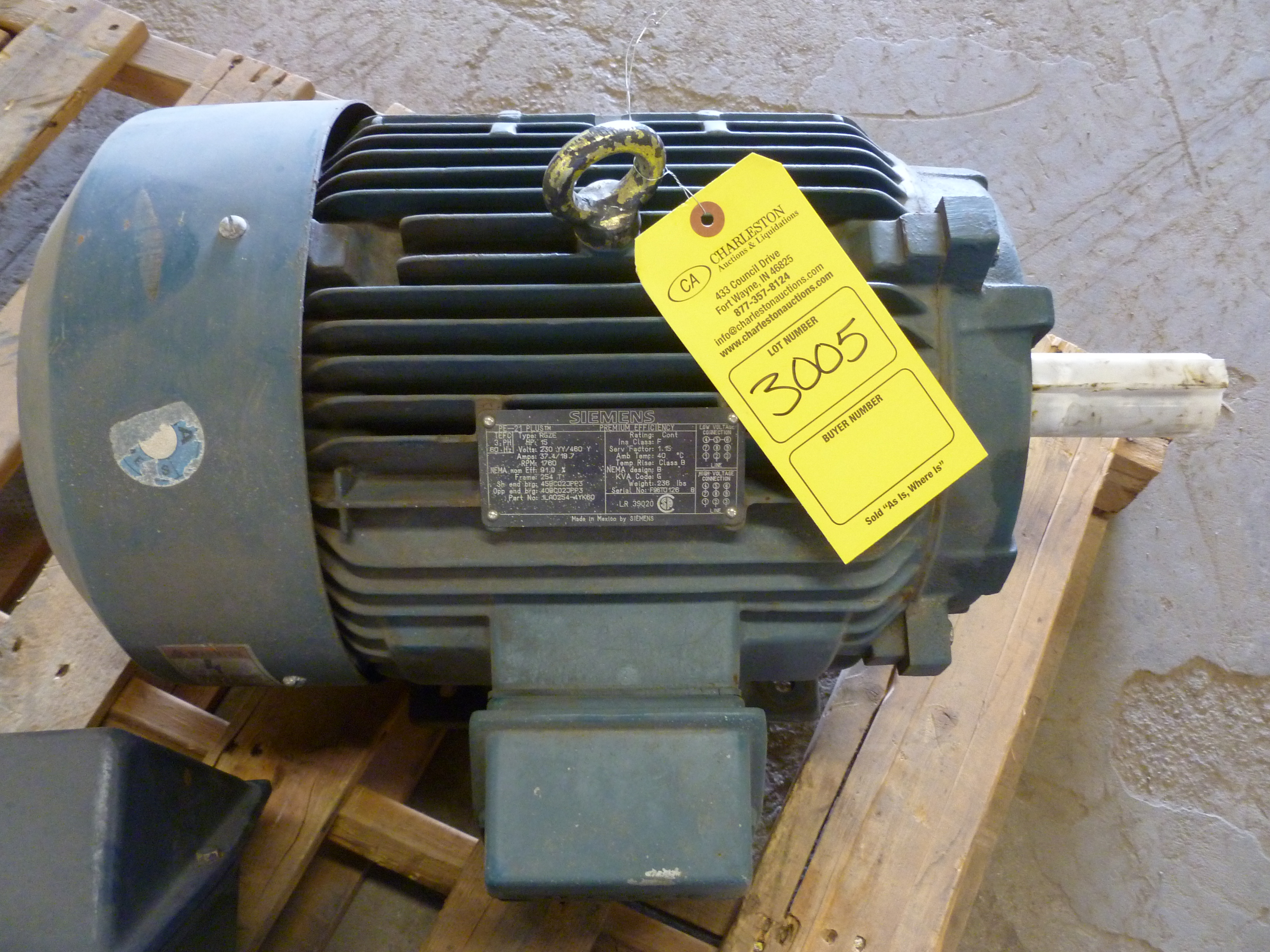 15 hp motor amps for 5 hp motor amps