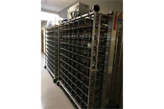 Lot of (2) Allentown Rodent Cage Racks, Model MD75JU140MVP