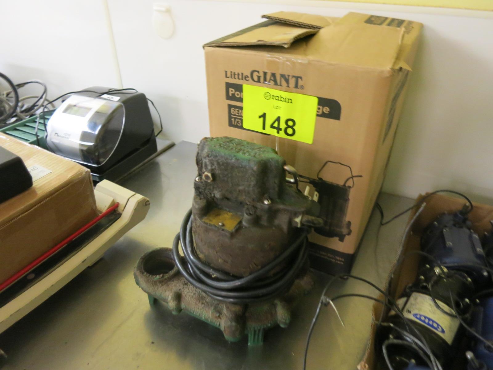 Lot 148 - Sump Pump
