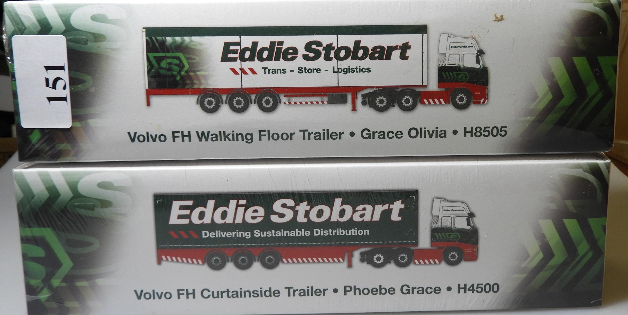BOXED GRACE OLIVIA 1:76 VOLVO FH WALKING FLOOR TRAILER TRUCK EDDIE STOBART