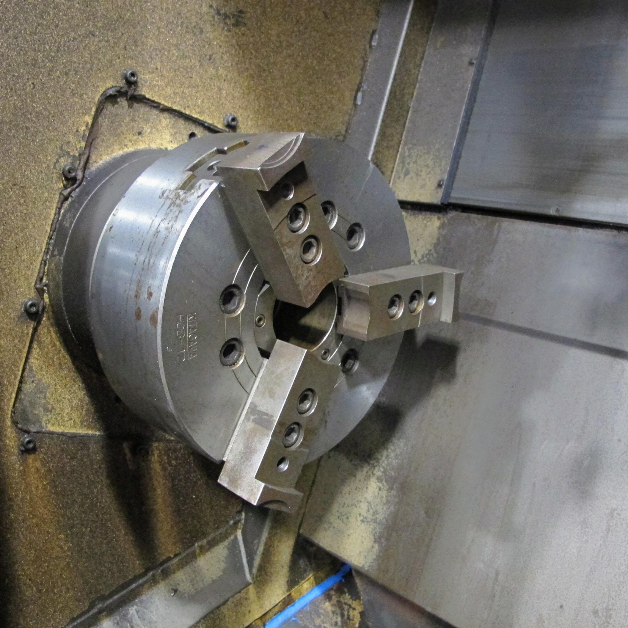 "OKUMA ACT-4 CNC LATHE W/12"" 3 JAW CHUCK, FANUC CONTROL, TAIL STOCK, ATC-12 W/10 TOOL HOLDERS, - Image 14 of 17"