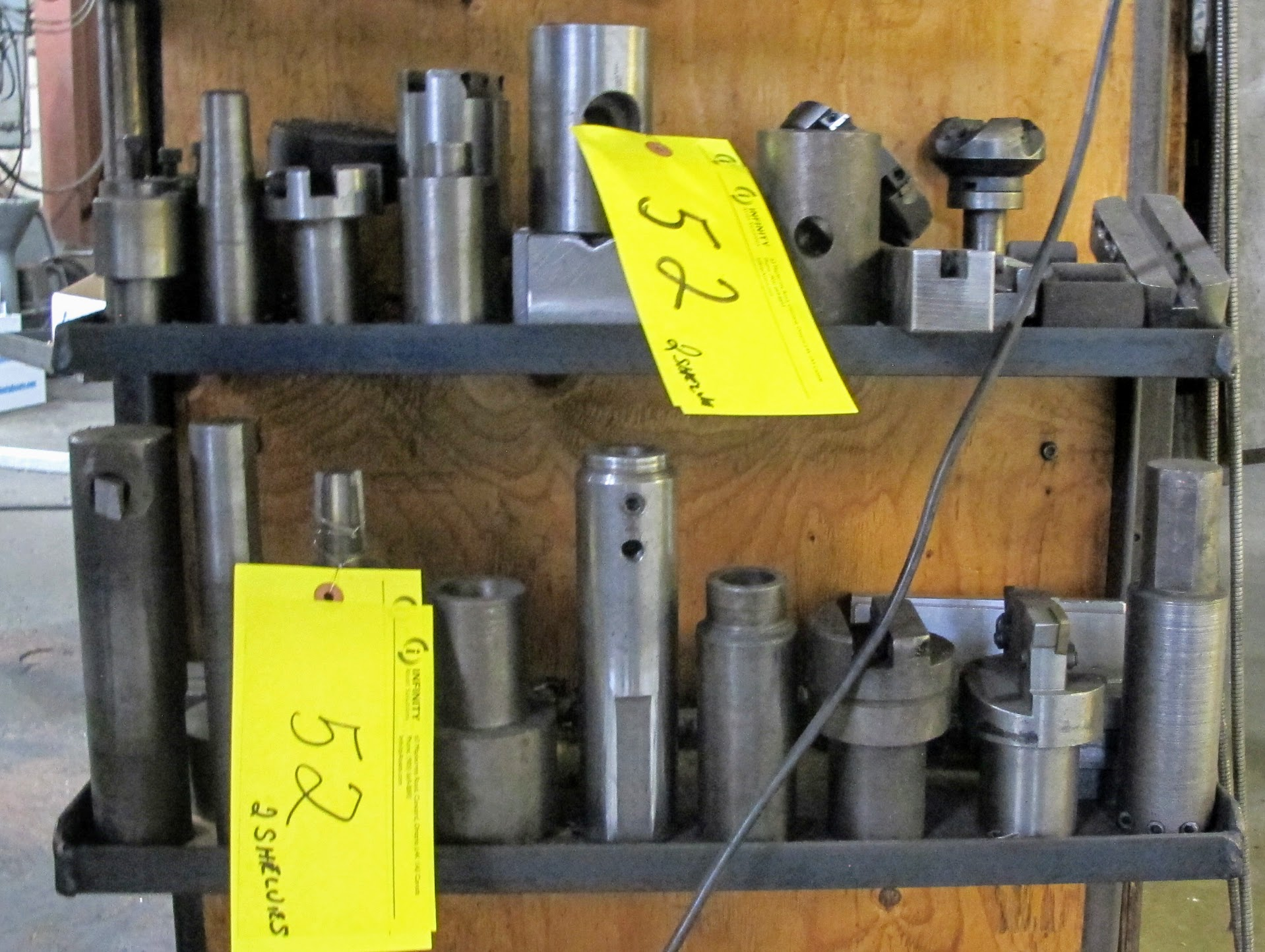 LOT OF TOOL HOLDERS, ARMS, BORING BARS AND CUTTING HEADS - Image 2 of 2