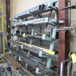 """CANTELIVER STEEL RACK 6 LEVELS W/BAR AND CHANNEL STOCK (STEEL, STAINLESS STEEL, ALUMINUM) 36""""D X 8'T"""