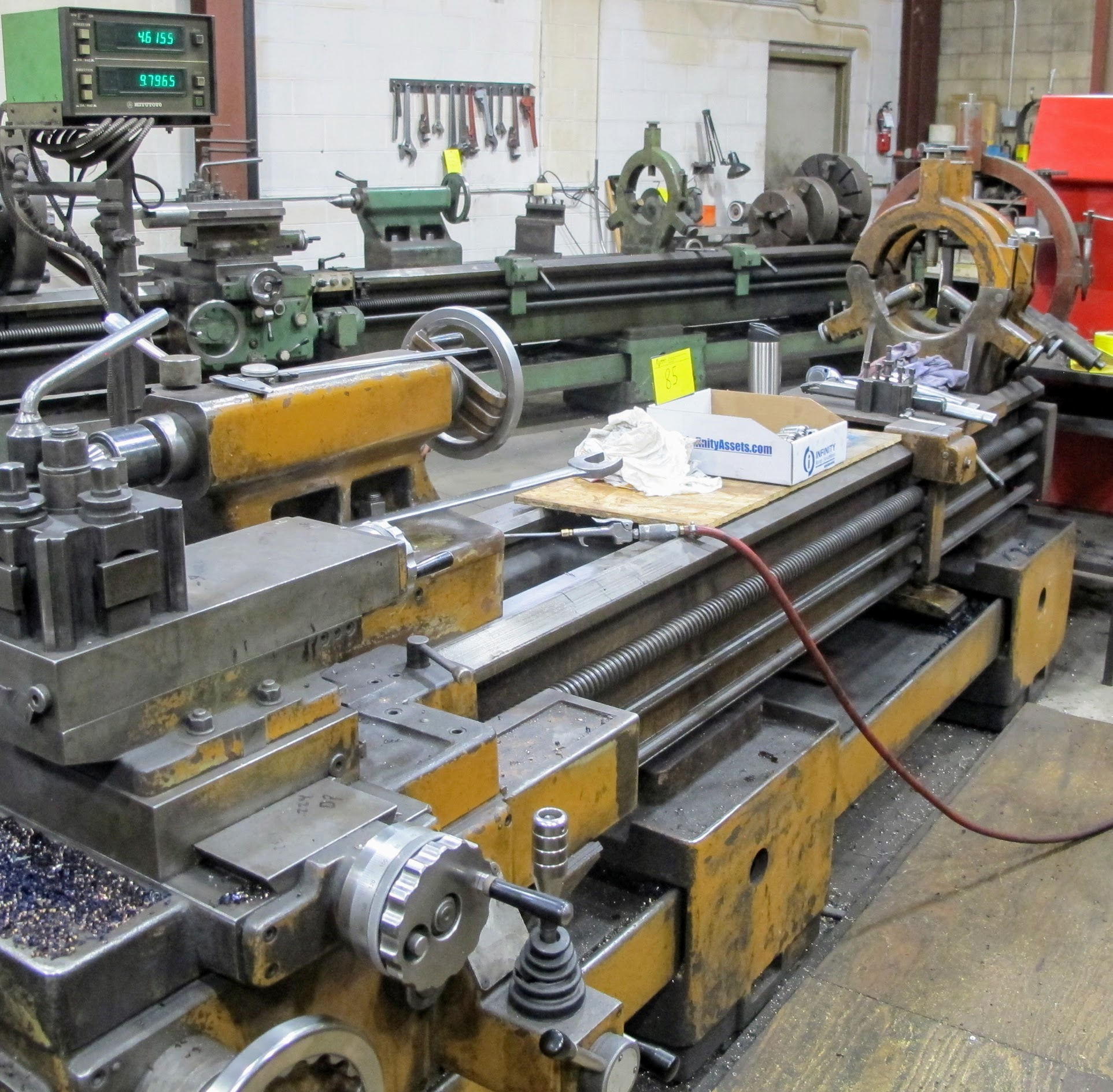 """PBR TM-30 LATHE, 2-AXIS DRO, 12"""" 3-JAW CHUCK, 12' BED, 15 - 1,500 RPM, QUICK CHANGE TOOL HOLDER, - Image 4 of 6"""