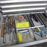 CONTENTS OF 1 DRAWER OF ROUSSEAU CABINET (CARBIDE CUTTER BARS, END MILLS, ETC)