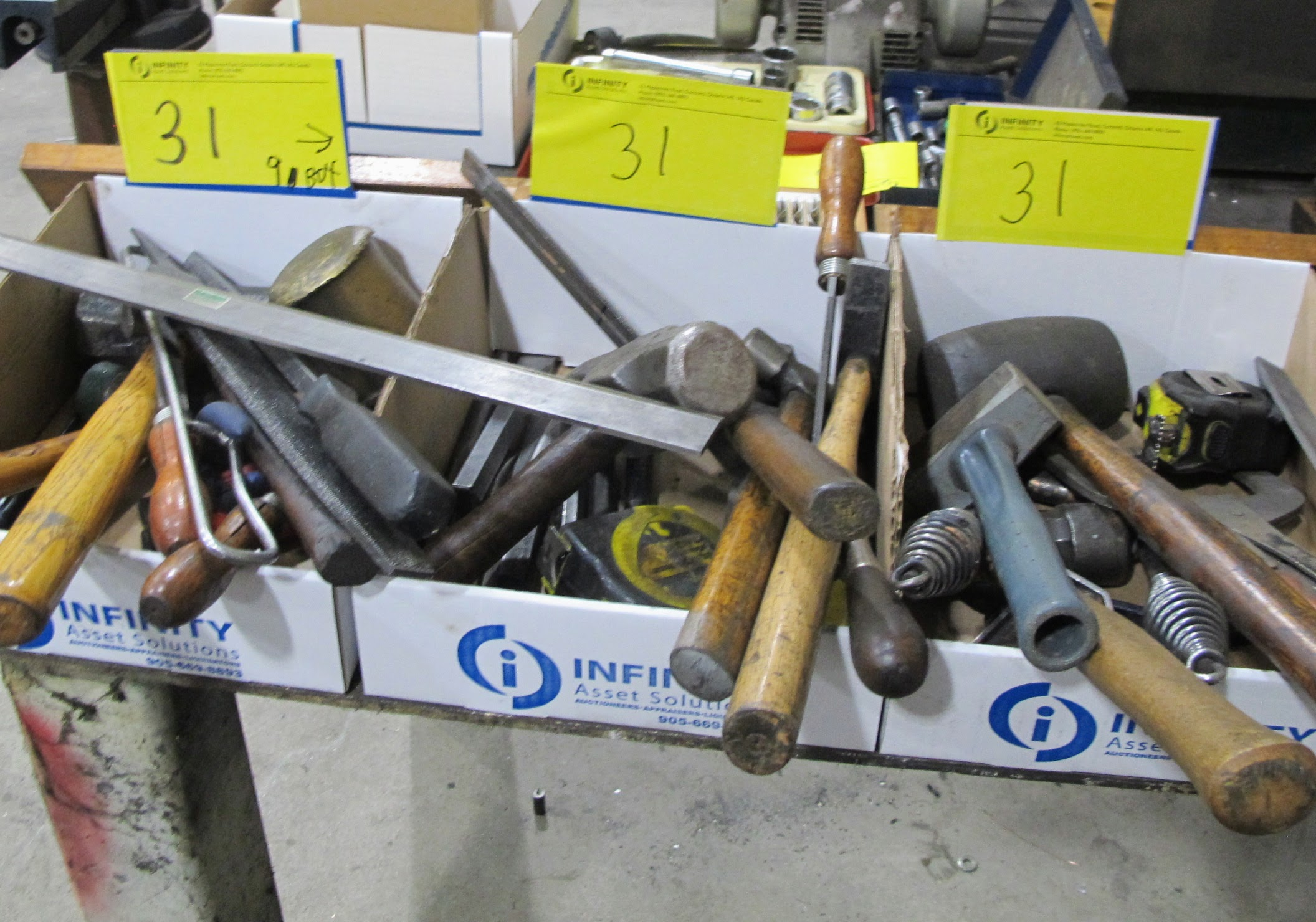 LOT OF 9 BOXES OF HAND TOOLS - Image 2 of 3