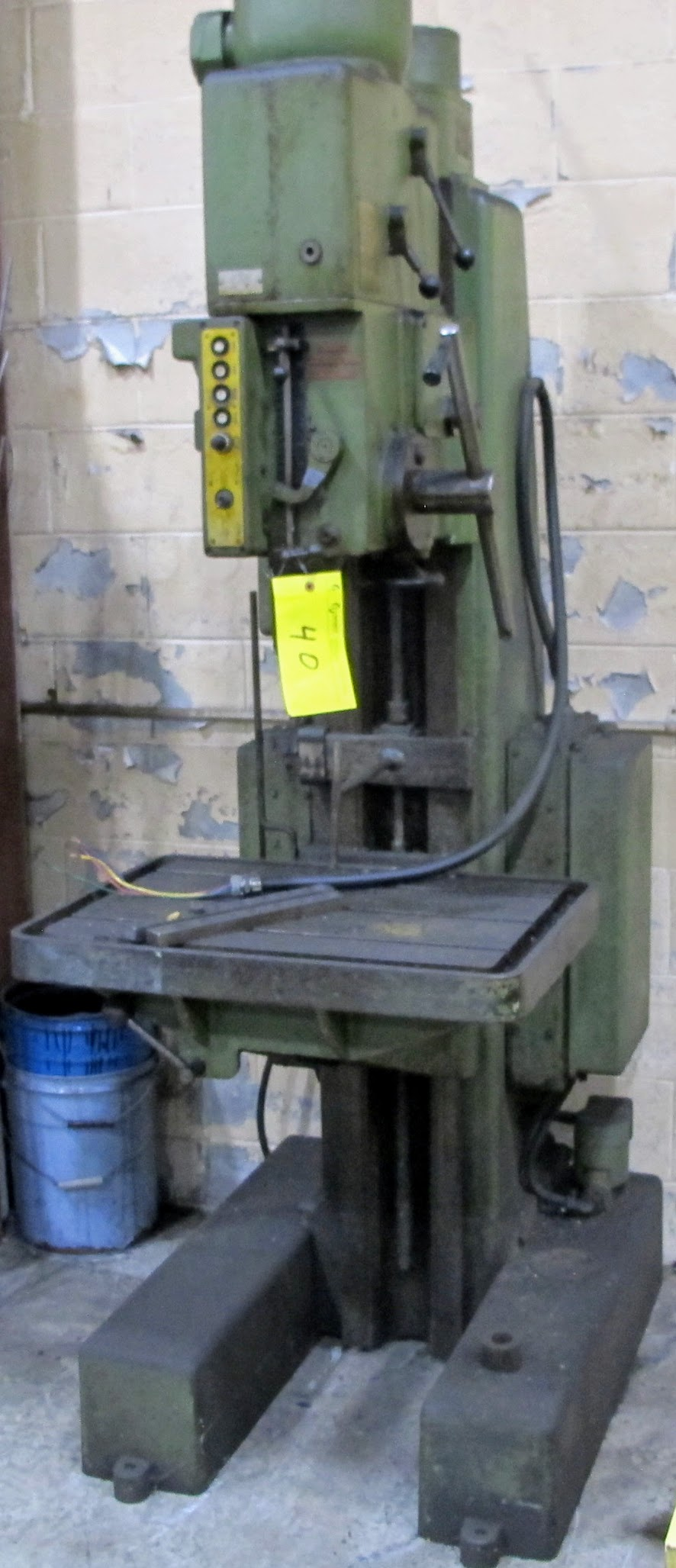 """ARBOGA MASCHINEN M3/4/7 DRILL PRESS, 1 1/4"""" BORES, 60V, 28"""" X 20"""" TABLE, 63 TO 800 RPM, S/N 16225 - Image 3 of 5"""