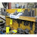 LOT OF MACHINE SCREWS, HOLD DOWNS, SETUP BLOCKS AND CLAMPS