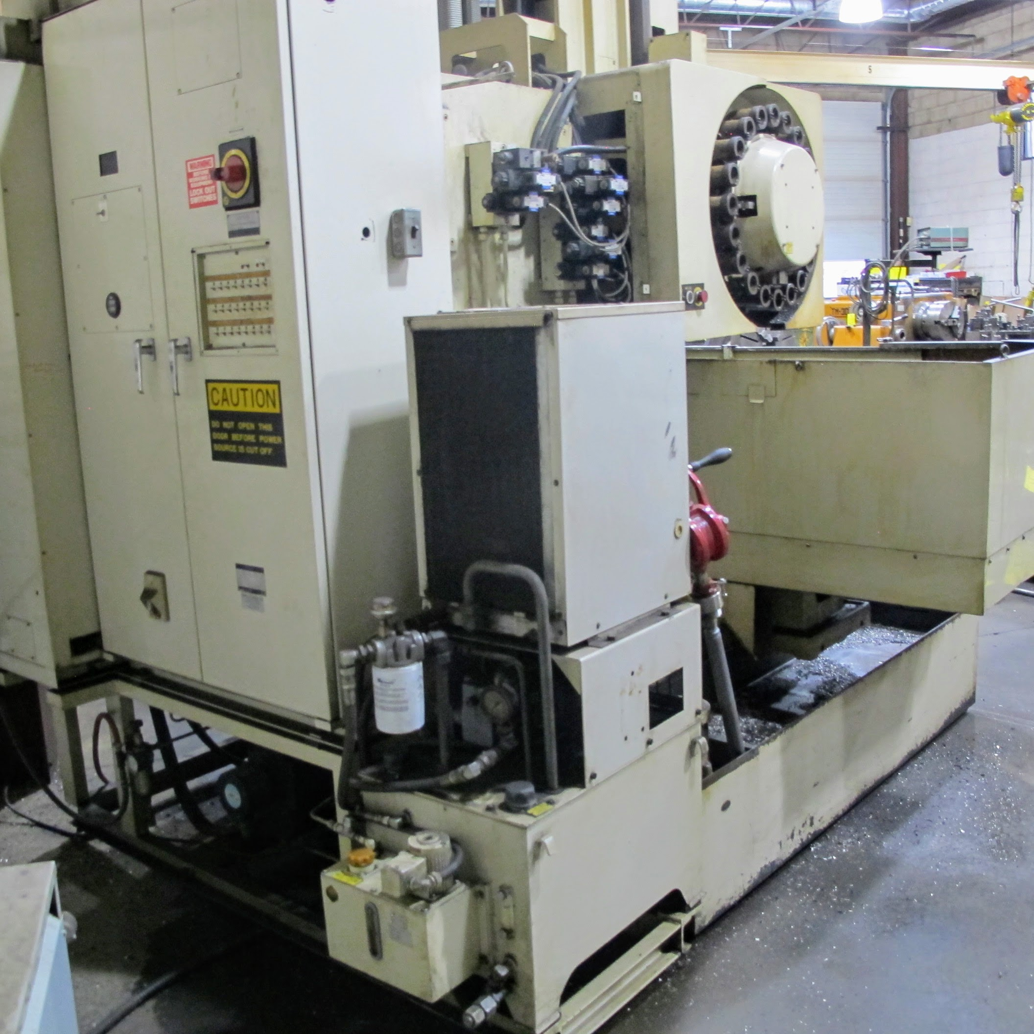 "SHIBAURA VMC-45 CNC VERTICAL MACHINING CENTER, 18"" X 40"" TABLE, TOSNUC CNC CONTROLS, 20 ATC, COOLING - Image 3 of 5"
