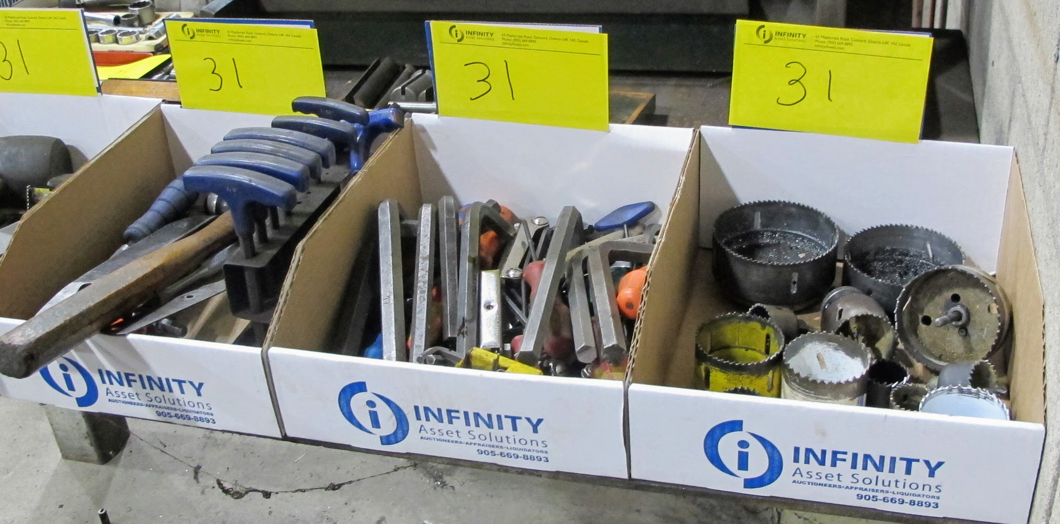 LOT OF 9 BOXES OF HAND TOOLS - Image 3 of 3