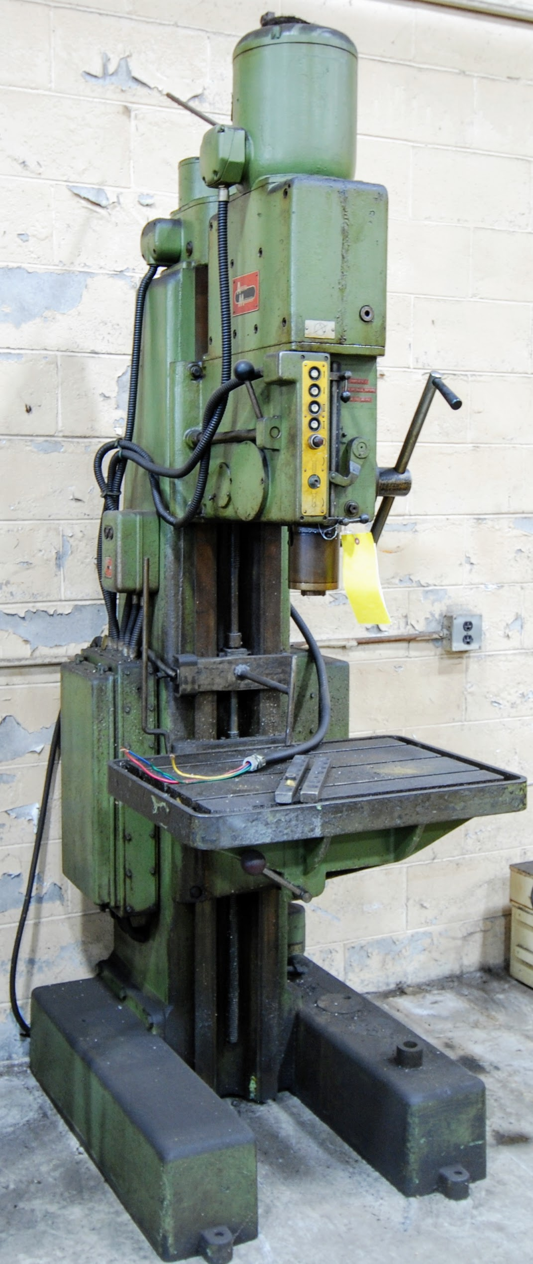 """ARBOGA MASCHINEN M3/4/7 DRILL PRESS, 1 1/4"""" BORES, 60V, 28"""" X 20"""" TABLE, 63 TO 800 RPM, S/N 16225 - Image 4 of 5"""