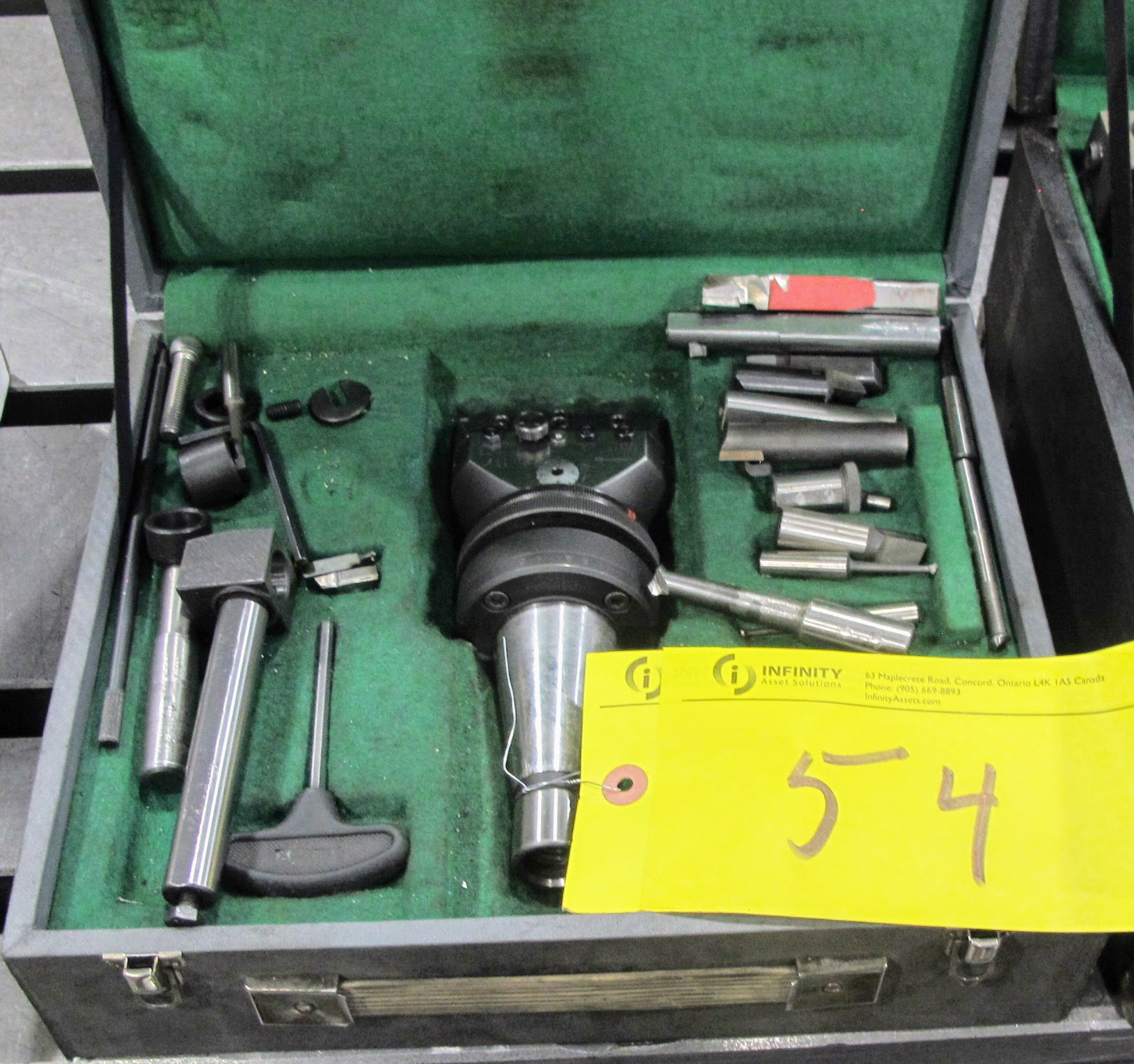 "NAREX BORING CHUCK 1 3/8"" W/CAT50 TOOL HOLDER AND ATTACHMENTS - Image 2 of 2"
