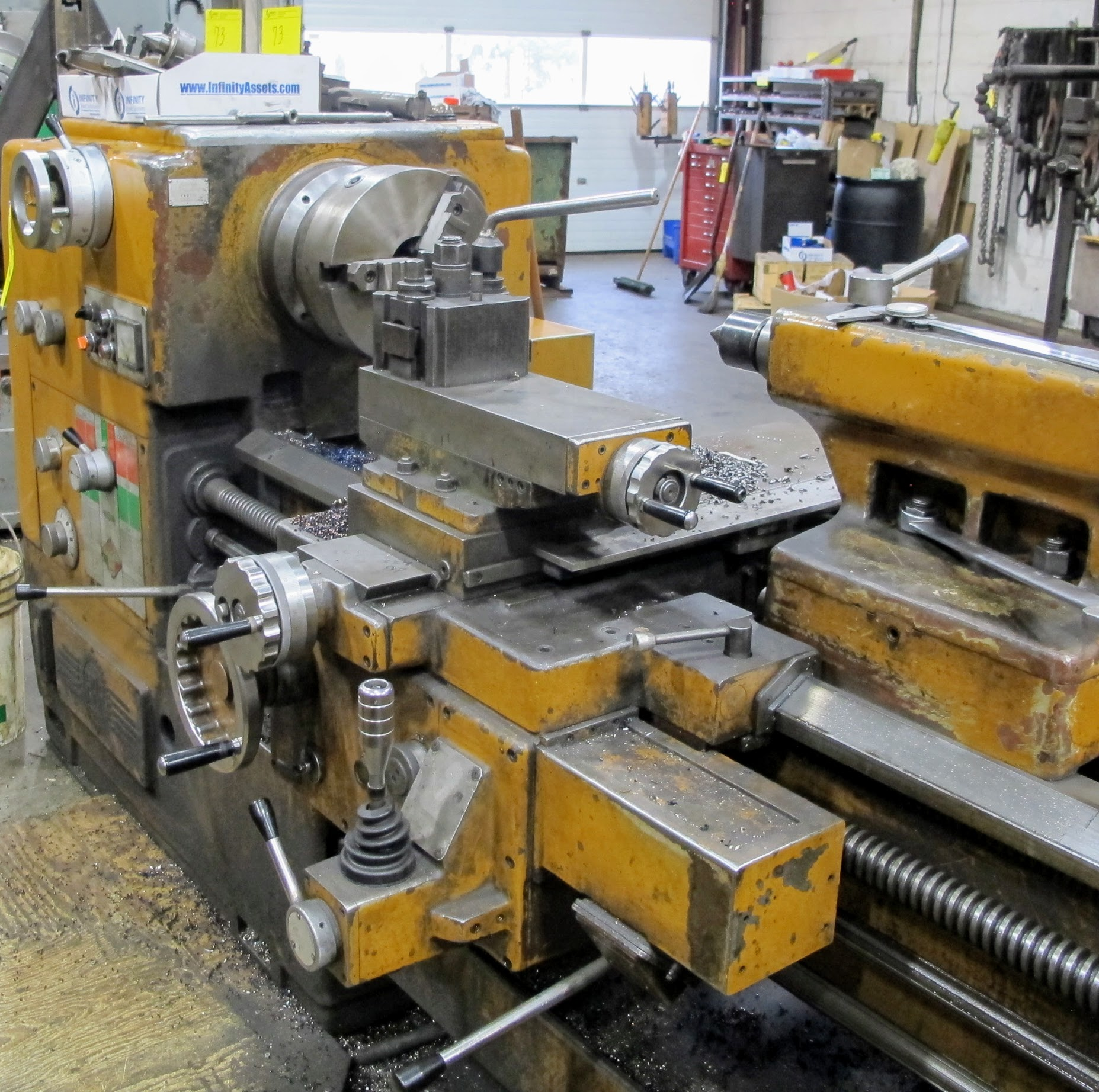 """PBR TM-30 LATHE, 2-AXIS DRO, 12"""" 3-JAW CHUCK, 12' BED, 15 - 1,500 RPM, QUICK CHANGE TOOL HOLDER, - Image 5 of 6"""