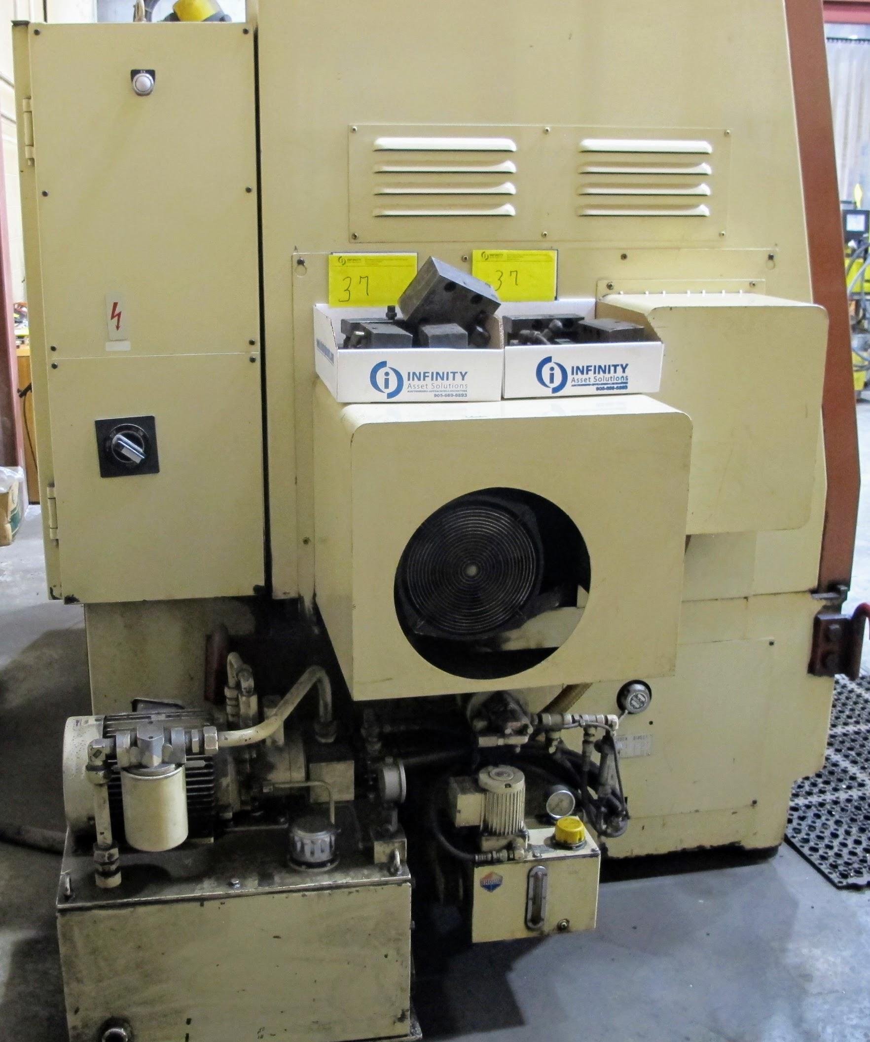 "OKUMA ACT-4 CNC LATHE W/12"" 3 JAW CHUCK, FANUC CONTROL, TAIL STOCK, ATC-12 W/10 TOOL HOLDERS, - Image 11 of 17"